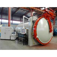 horizontal hot press tank autoclave with inflatable seals and circulation fan
