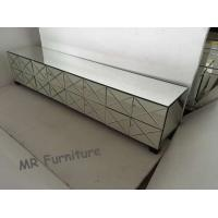 Quality Silver Mirrored TV Stand Metal Hinge W200 * D40 * H42cm Size Durable Wood for sale