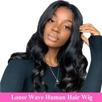 "100% Raw Unprocessed Human Hair Loose Wave Full Lace Wig 10""-28"" Length Manufactures"