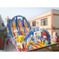 Large outdoor commercial Inflatable Slide With Sunshine Arch For Garden Manufactures