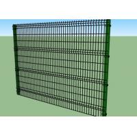 1.8m Height Vinyl Coated Welded Wire Fence Panels 4.0 / 5.0 / 6.0mm Wire Diameter Manufactures