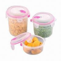 Plastic Airtight Container Set, BPA-free/Various Sizes and Colors are Available/FDA/EN 71 Certified Manufactures
