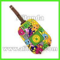 Buy cheap High quality cheap price cartoon animal simple words style pvc luggage tag from wholesalers
