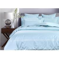 Simple Embroidered Twin Size Bedding Sets 100% Cotton 4 Pcs For Home / Hotel Manufactures