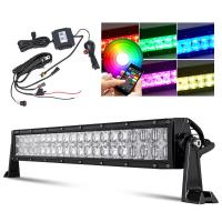 Remote Control Led Driving Lights 2 Rows Die Casting Aluminum Material Manufactures