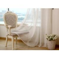 Linen Yarn Blending Pure White Bathroom Window Curtains With Different Size Manufactures
