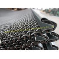 Plain Weave Wire Mesh Cloth 65Mn , 45Mn Black Pre Crimped Wire Mesh Corrosion Resistant Manufactures