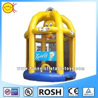 Cute Yellow Birdcage Inflatable Combo Bouncers For Kid Playing Manufactures