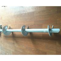 Hot Dip Galvanized Helical Pile Foundations Ground Screw Pole Anchor Manufactures