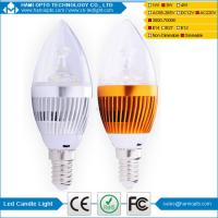 Dimmable Epistar 3W E14 Led Candle Light , 270 Lumen LED bulb lighting Manufactures