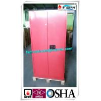 45 Gallon Red Flammable Goods Storage Cabinets Lockable For Paints And Inks Manufactures