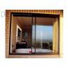 Buy cheap Aluminium Double Glazing Horizontal Sliding Windows Impact And Abrasion Resistant from wholesalers
