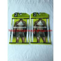 Recyclable Poly Bags With Hangers , Clothing Plastic Packing Bags With Plastic Hook Manufactures