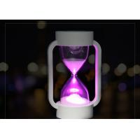 China Battery Fun Electronic Gifts Colorful LED Night Light Time Sand Clock For Kids on sale