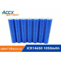 3.7V lithium rechargeable battery ICR14650 1100mAh 14650 li-ion battery for toy Manufactures