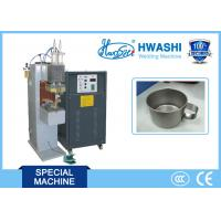 CE Standard Capacitor Welding Machine , Cup Handle Stainless Steel Spot Welder Manufactures