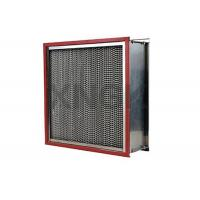 High Temperature Cartridge Air Filter 24 * 24 * 12 Inch , Glass Fiber Hepa Exhaust Filter Manufactures