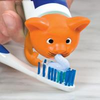 OEM Cat Shape Toothpaste Spread Heads PP Food Grade Safe Soft For Children Manufactures