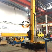 Fixed Base Column And Boom Welding Manipulators With Manual Control Box Manufactures