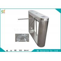 Run Smoothly Half Height Tripod Turnstile Gate With IC Bar Code Cards Manufactures
