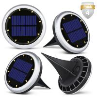 White Solar Powered LED Ground Lights / Solar Lights For Driveway Entrance Manufactures