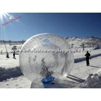 Clear TPU Snow Inflatable Zorb Ball Funny , Body Zorbing Bubble Ball Manufactures