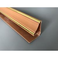 5.95m Length Brown PVC Extrusion Profiles With Golden Lines Top Corner Type Manufactures