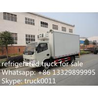 dongfeng 95hp diesel 4*2 3ton frozen food transported truck, hot sale dongfeng brand 5tons frozen food dolc room truck Manufactures
