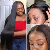Natural Hairline 100 Percent Human Hair Lace Front Wig With Baby Hair No Tangle Manufactures