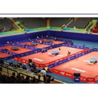 Table Tennis Court PVC Vinyl Roll Flooring Anti - Slip With Glass Fiber Layer Manufactures