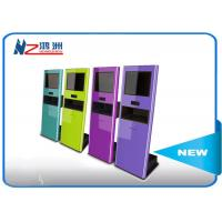 RFID card reader interactive touch screen kiosk for payment , outdoor information kiosk Manufactures