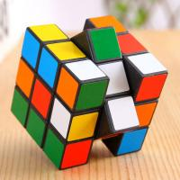 Promotional children's toys 3 x 3 x 3 Rubik's Cube Black + Multi-Colored Speed Cube Puzzle Magic Cube 3-layers fancy Toy Manufactures