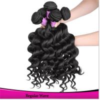 Natural Black Brazilian Human Hair Sew in Weave Bundles Unprocessed Raw Virgin Hair Manufactures