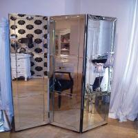 Quality Modern 3D Wall Mirror 175 * 180cm Size Rectangular Floor Standing Mirror for sale