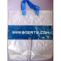 FrostedPlastic Bags / Soft Loop Handle Bag with Logo Printed Manufactures