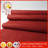 China 2017 New Synthetic types of red flocked fabric micro suede for sofa on sale