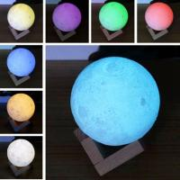 3D Printing Moon Light,Tap Control Rechargeable Moon Lamp with Multi-colors LED Lunar Night Light Manufactures