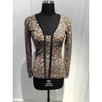 Customized Design Women'S Leopard Print Sweater Natural Material 15JT 004 Manufactures