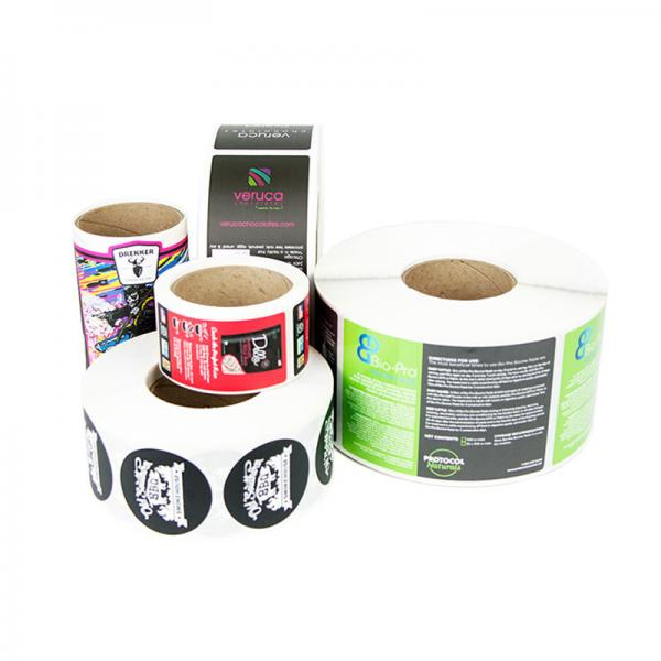 Quality Pantone Color 250g Sticker Paper Printed Adhesive Labels for sale