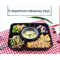 China Lightweight Portable Plastic Compartment Food Trays With Soup Cups Microwaveable on sale