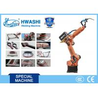 CNC HwashiSix Axis Industrial Industrial Welding Robots Arm 1400mm Reaching Distance Manufactures