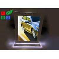 Double Sided LED Crystal Light Box A4 A5 Format Size For Countertop Menu Display Manufactures