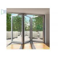 Quality Modern Style Accordion Aluminium Folding Doors Soundproof With Toughened Glass for sale
