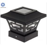 High Lumen Solar Post Cap Lamp Customized Black Aluminum Imperial For Outdoor Manufactures