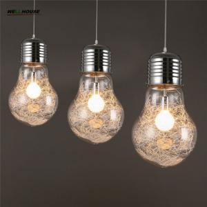 Big Bulb Pendant Light Modern Creative Restaurant Bar Glass Pendant Light Aisle Corridor Lamp Dia 15cm,22cm,30cm Manufactures