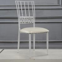 Steel Cafe White Wedding Chairs Rent Wedding Venue Chairs For Dining room Manufactures