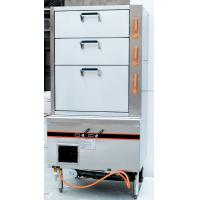 Commercial Gas Steamer 3-Door Full Stainless Steel 900*820*1850mm High Power Motor 550w Manufactures