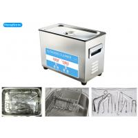 Digital Control Tabletop Ultrasonic Cleaner , Surgical Ultrasonic Cleaner With Heater Manufactures