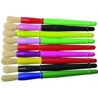 9 Colors Plastic Handle Paint Brushes , Colorful Watercolor Paint Brush Set OEM Avaliable Manufactures