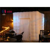 Indoor Commercial Party Photo Booth Decorations , White Inflatable Cube Tent Manufactures